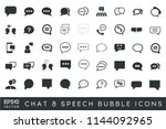 chat speech bubble icons...
