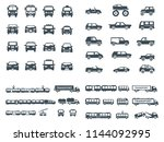 transport icons collection | Shutterstock .eps vector #1144092995
