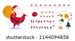 vector santa claus character...   Shutterstock .eps vector #1144094858