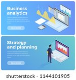 banners on theme of business... | Shutterstock .eps vector #1144101905