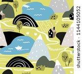 scandinavian graphic... | Shutterstock .eps vector #1144105052