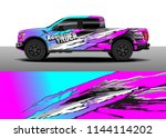 car decal wrap design  truck... | Shutterstock .eps vector #1144114202