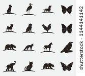 rustic wild animal logo ...   Shutterstock .eps vector #1144141142