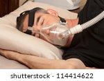 Man With Sleeping Apnea And...