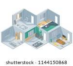 isometric set on the theme of... | Shutterstock .eps vector #1144150868