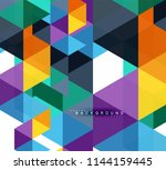 multicolored triangles abstract ... | Shutterstock .eps vector #1144159445