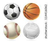 sport balls. vector illustration | Shutterstock .eps vector #114416062