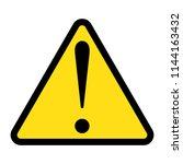 danger sign  warning sign ...   Shutterstock .eps vector #1144163432