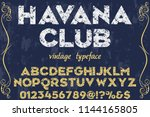 font alphabet script typeface... | Shutterstock .eps vector #1144165805