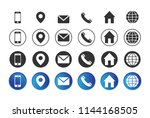 4 different contact information ... | Shutterstock .eps vector #1144168505