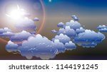 evening sky background with...   Shutterstock .eps vector #1144191245