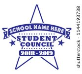 student council tee shirt... | Shutterstock .eps vector #1144193738