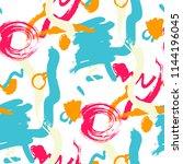 brush strokes. seamless pattern ... | Shutterstock .eps vector #1144196045