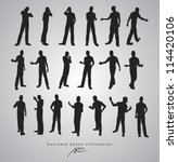 business poses silhouettes  ... | Shutterstock .eps vector #114420106