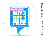 buy 2 get 1free  speech bubble... | Shutterstock .eps vector #1144202948