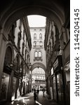 milan   may 24  street view on...   Shutterstock . vector #1144204145