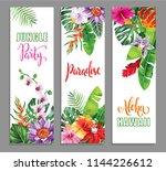tropical hawaiian party... | Shutterstock .eps vector #1144226612