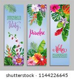 tropical hawaiian party... | Shutterstock .eps vector #1144226645