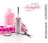 nail polish and scissors   Shutterstock . vector #114423052