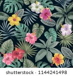 tropical seamless pattern with... | Shutterstock .eps vector #1144241498