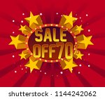 sale off 70  beautiful greeting ...   Shutterstock .eps vector #1144242062