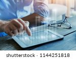 business intelligence concept ... | Shutterstock . vector #1144251818