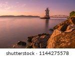 sleepy hollow lighthouse  in...   Shutterstock . vector #1144275578