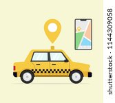 online taxi service with smart... | Shutterstock .eps vector #1144309058