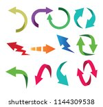modern arrow icon button set... | Shutterstock .eps vector #1144309538