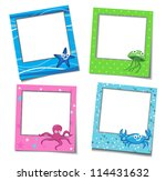 photo frames with cartoons   Shutterstock .eps vector #114431632