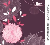 Floral Background With Flower...