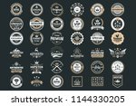 vintage retro vector logo for... | Shutterstock .eps vector #1144330205