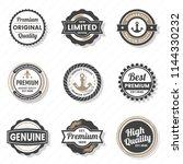 vintage retro vector logo for... | Shutterstock .eps vector #1144330232