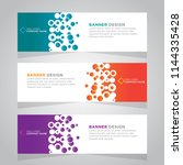 vector abstract design web... | Shutterstock .eps vector #1144335428