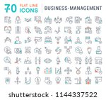 set of vector line icons of... | Shutterstock .eps vector #1144337522
