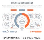 line banner of business... | Shutterstock .eps vector #1144337528