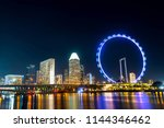beautiful singapore cityscape... | Shutterstock . vector #1144346462