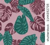 vector tropic seamless pattern. ... | Shutterstock .eps vector #1144352735