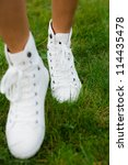 legs of woman walking | Shutterstock . vector #114435478