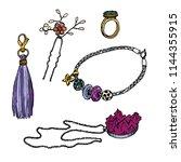 set of various ornamentations ... | Shutterstock .eps vector #1144355915