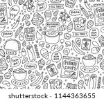 my favorite food  vector... | Shutterstock .eps vector #1144363655