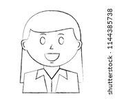 business woman avatar character | Shutterstock .eps vector #1144385738