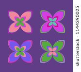 new color pattern with many... | Shutterstock . vector #1144390025