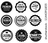 set of classic company retro or ... | Shutterstock .eps vector #1144391855