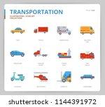 transportation icon set | Shutterstock .eps vector #1144391972