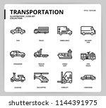 transportation icon set | Shutterstock .eps vector #1144391975