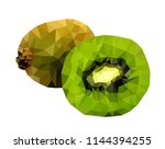 vector illustration kiwi ... | Shutterstock .eps vector #1144394255