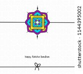 vector abstract for raksha... | Shutterstock .eps vector #1144395002