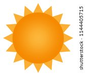 sun icon with jags as vector on ... | Shutterstock .eps vector #1144405715
