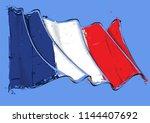 vector grange illustration of a ... | Shutterstock .eps vector #1144407692